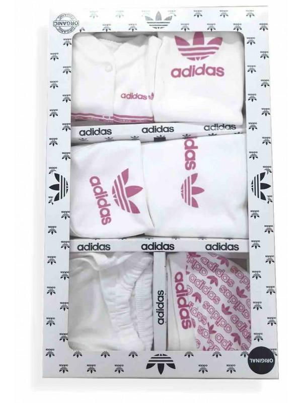 Adidas baby box set pink
