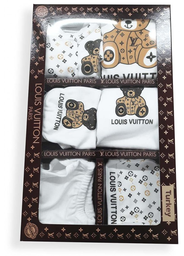Louis Vuitton doll box set coffee color