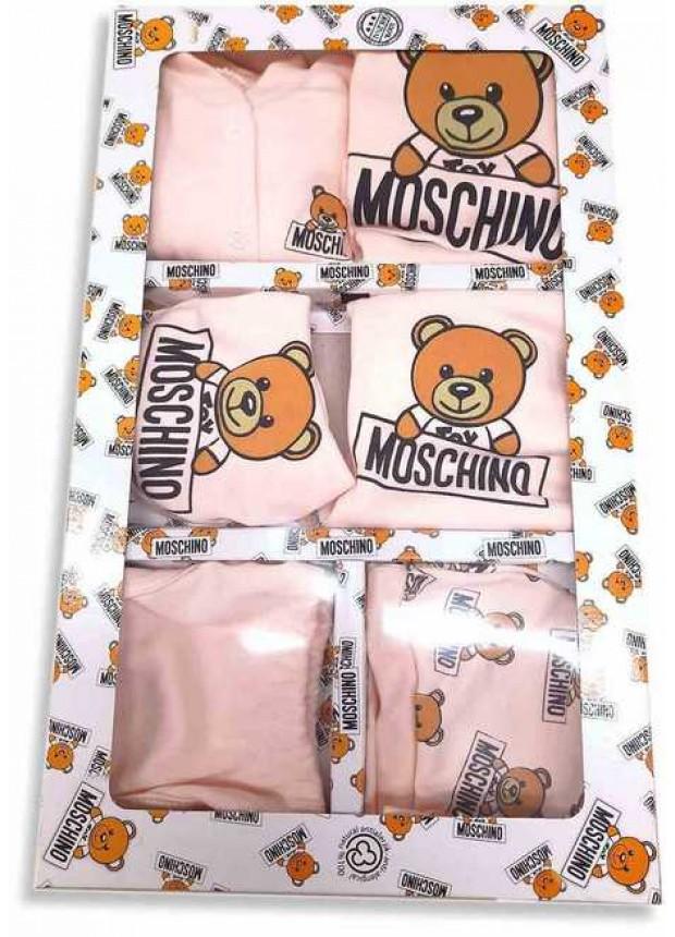 MOSCHINO Детский боксерский комплект розовый