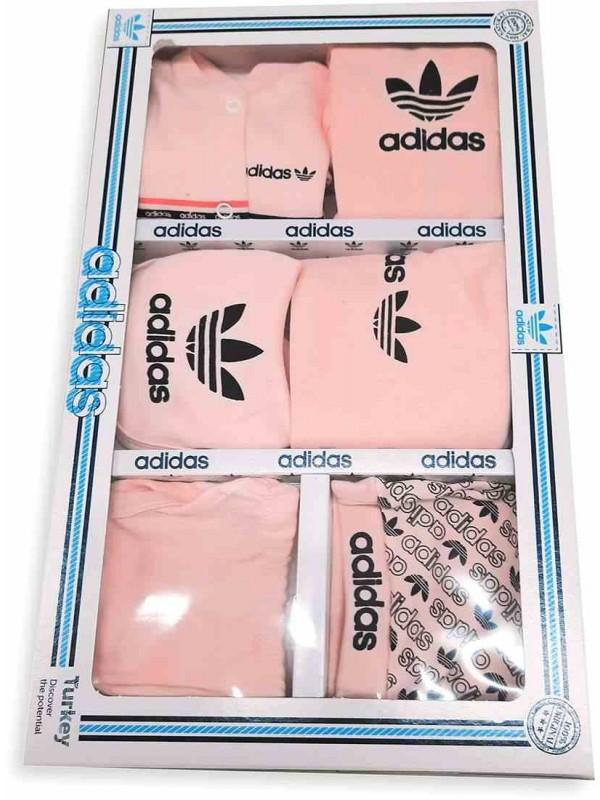 ADIDAS baby boxed set black pink
