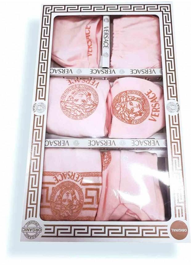 Детские комплекты VERSACE в коробке девочка розовый