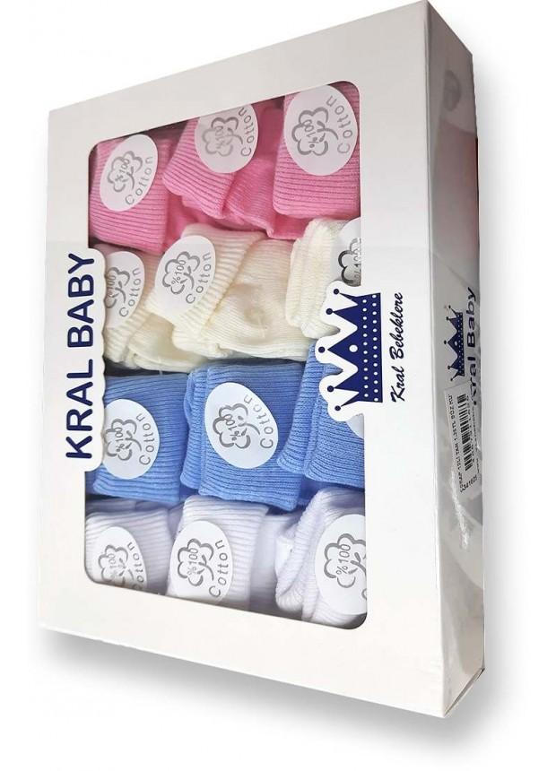 Baby socks 1 box = 12 bebe socks wholesale Mc
