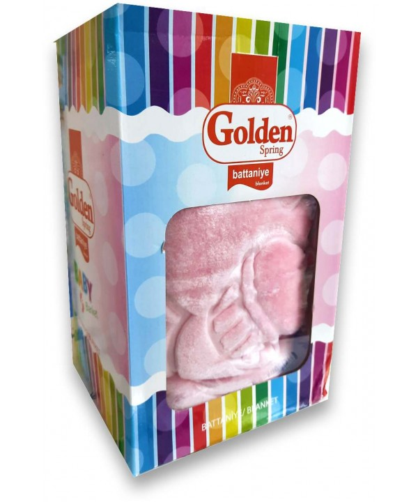 Golden Brand high quality pink baby blanket wholesale