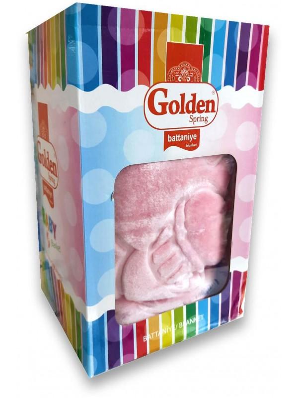 Golden Marka kaliteli pembe bebek battaniyesi toptan