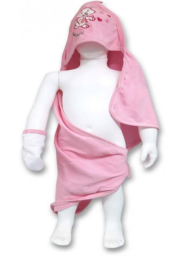Банное полотенце для девочки 0-3-6-9 месяцев - оптом