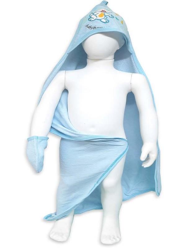 Baby boy bath towel 0-3-6-9 months - wholesale