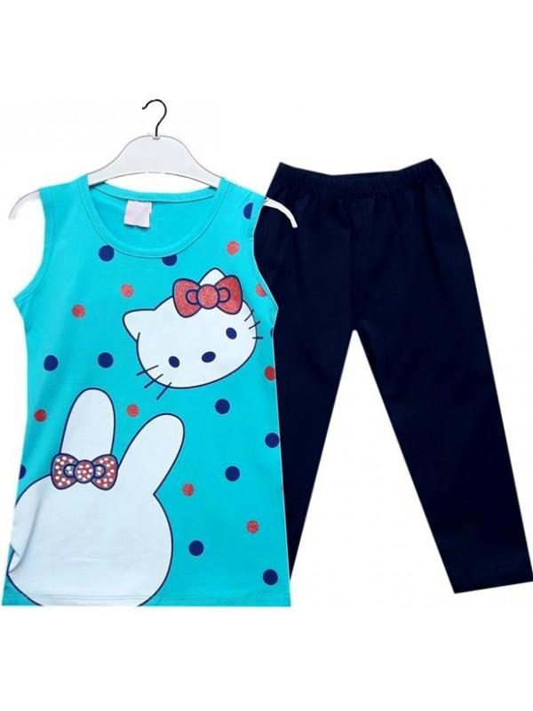 3 4 5 6 ages summer girls dress wholesale kitten turquoise