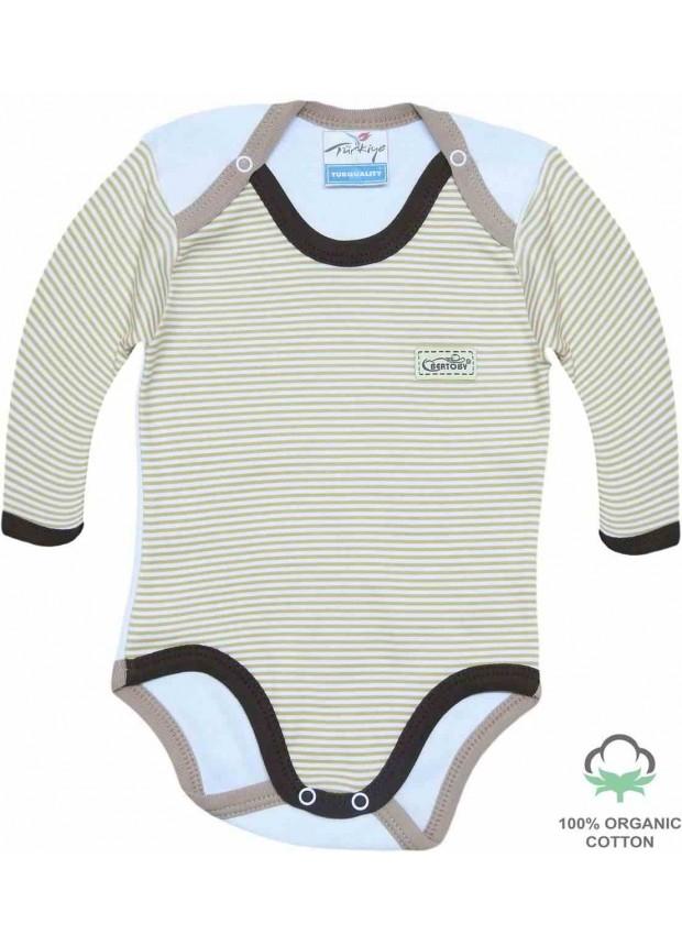 Wholesale 100% cotton organic newborn jumpsuit bodysuit coffee