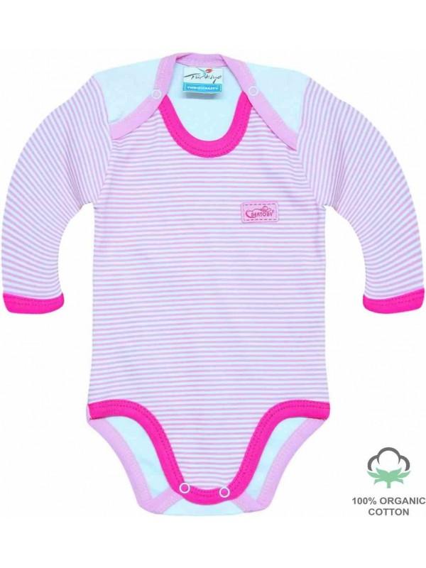 Оптовые 100% хлопковые органические комбинезоны для новорожденных боди цвета фуксии