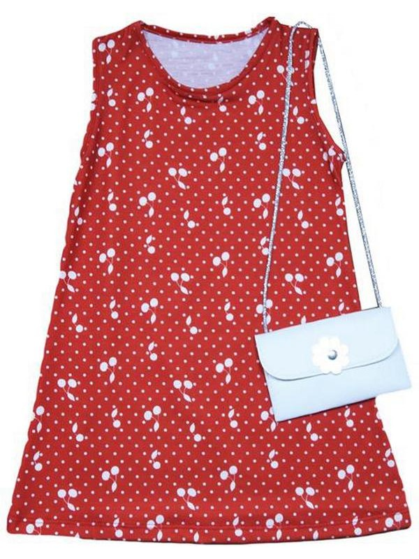 2-3-4-5 years girls summer dress 6Mdl with bag accessories