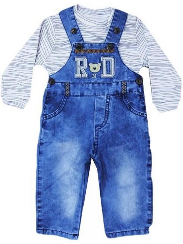 3-6-9-12 ay bebek kot salopet + t-shirt toptan tedarikçi