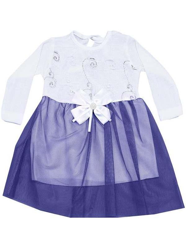 Платье для девочки 6-9-12 месяцев с тюлем модель b