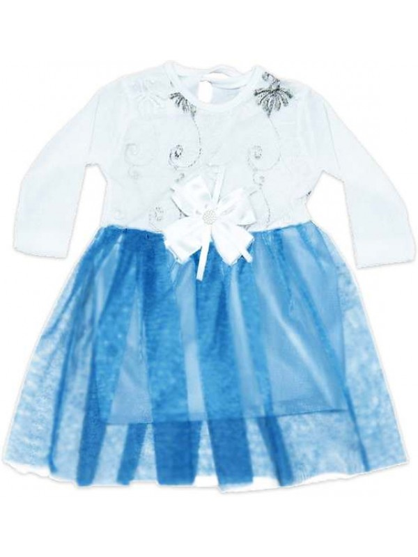 Платье для девочки 6-9-12 месяцев с тюлем модель c