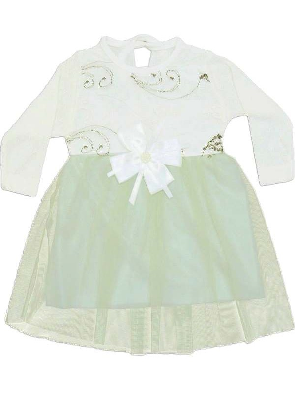 6-9-12 months baby girl dress with tulle model a