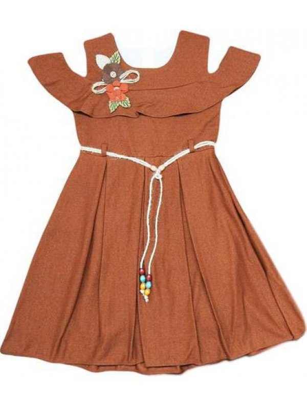 6-8-10-12 ages pleated girls dress wholesale model a