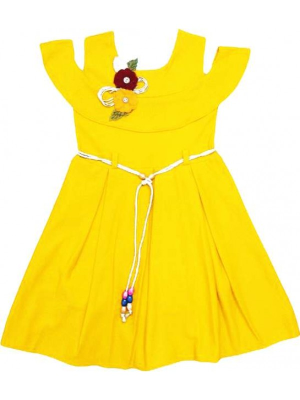 6-8-10-12 age pleated girls dress wholesale model f