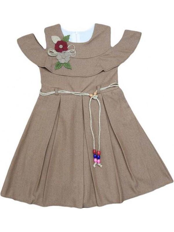 6-8-10-12 age pleated girls dress wholesale model b