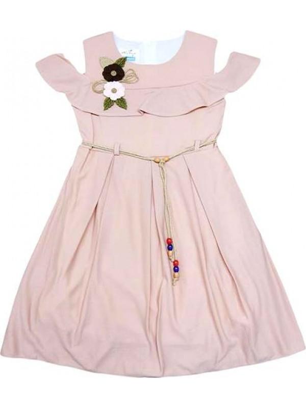 6-8-10-12 age pleated girls dress wholesale model c