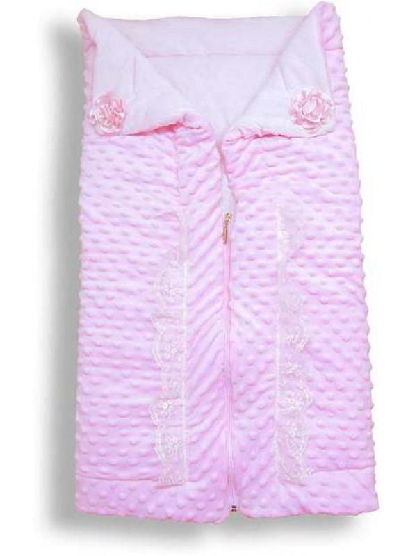100% хлопок высокое качество детское одеяло на молнии оптом розовый