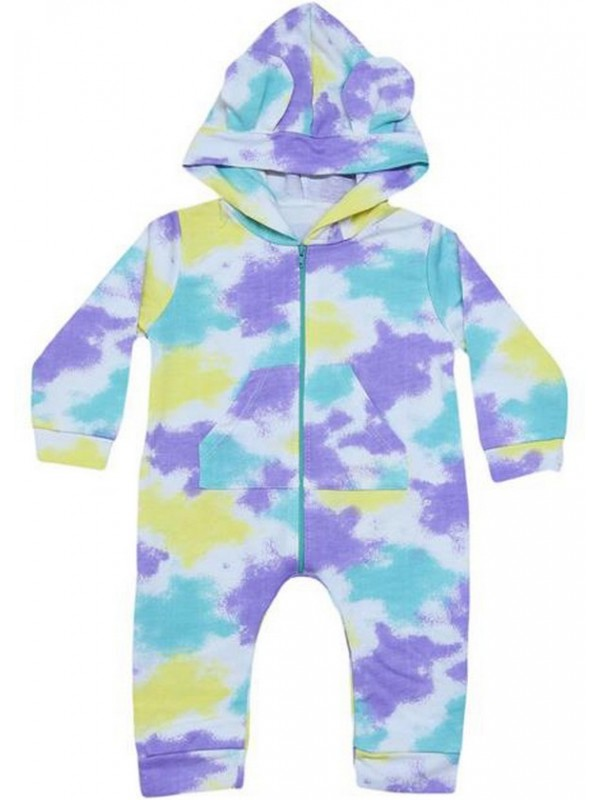 3-6-9 months baby rompers with colorful zipper M3