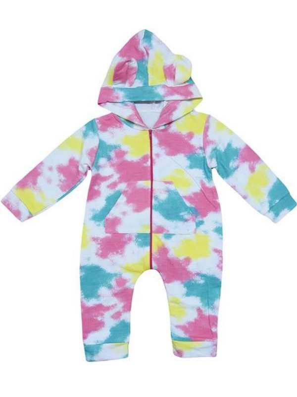 3-6-9 months baby rompers M4 with colorful zipper