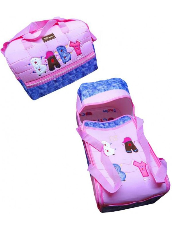 wholesale baby embroidered carrying set pink
