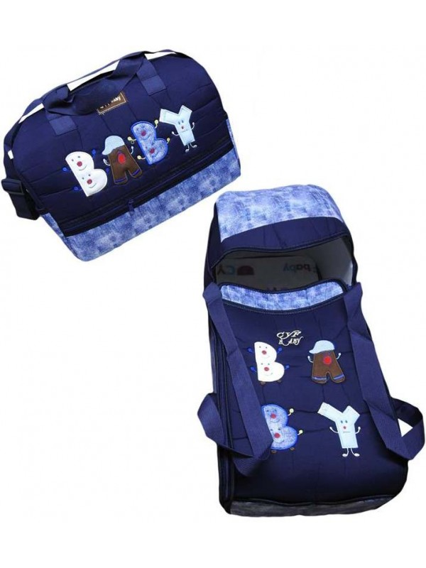 wholesale baby embroidered carrying set navy