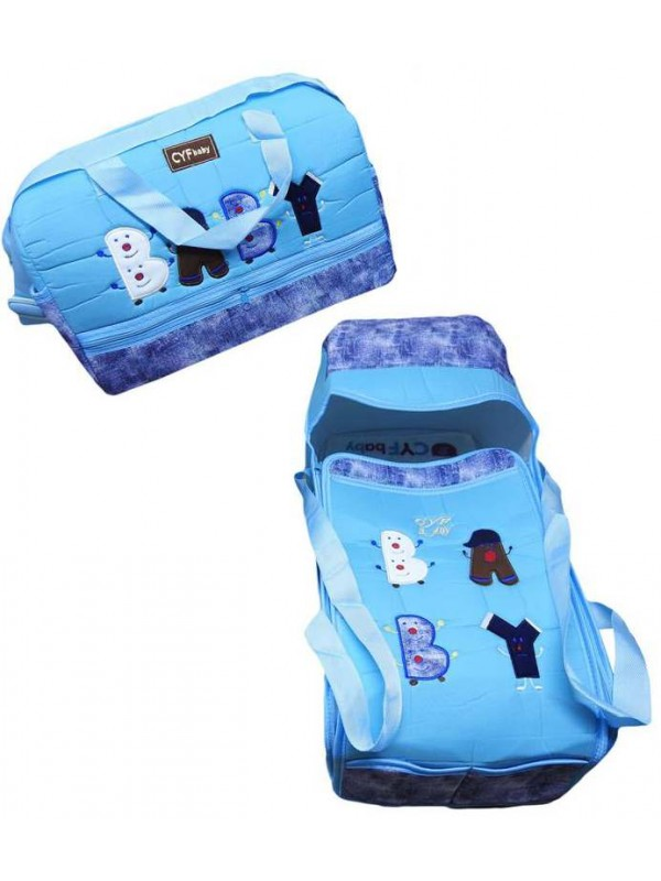 wholesale baby embroidered carrying set light sky blue