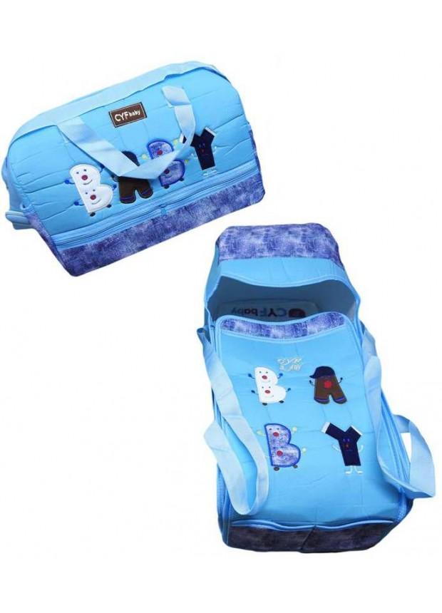 Оптовая детский вышитый комплект для переноски светло-голубой