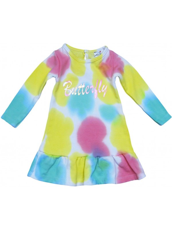 wholesale tie-dye racer girl dress 2-3-4-5 age