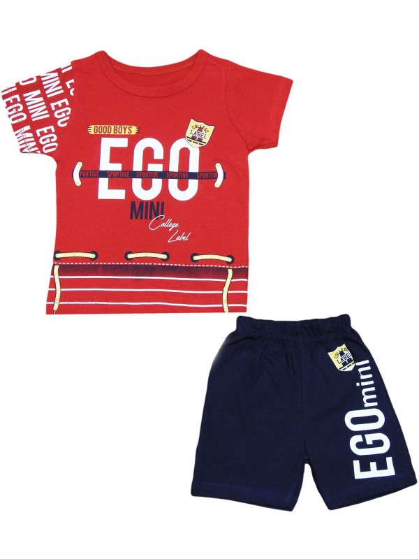 2-3-4-5 yaş yazlık çocuk giyim ikili takım kırmızı