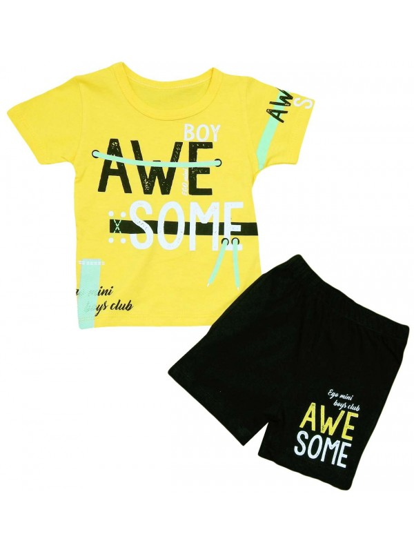 2-3-4-5 age boys summer clothes yellow