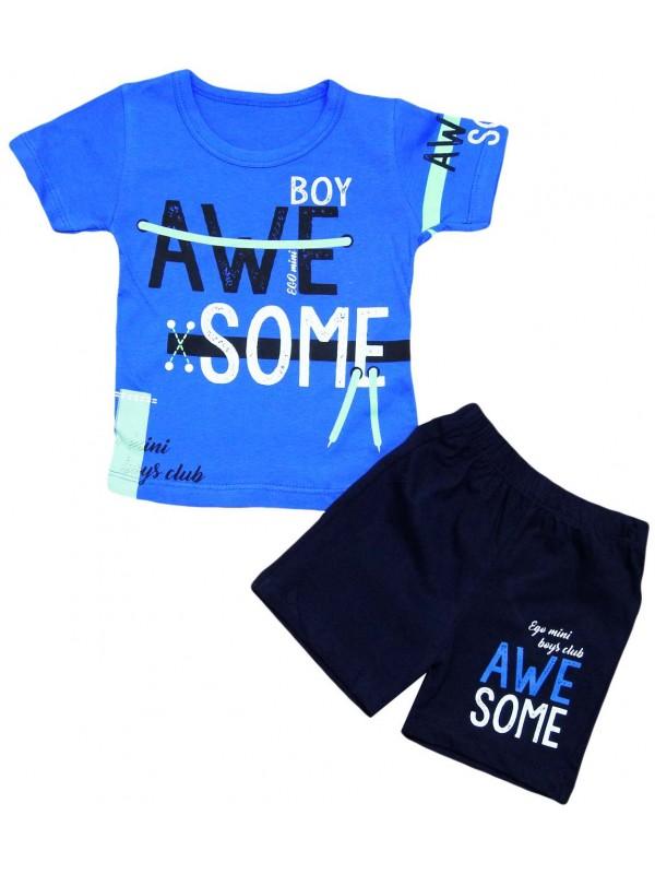 2-3-4-5 yaş erkek çocuk yazlık kıyafetler lacivert