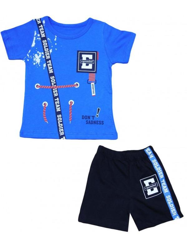 Летний костюм для мальчиков 2-3-4-5 лет темно-синий