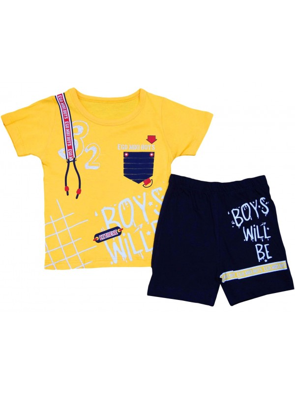 2-3-4-5 years old summer children's new season clothing suit yellow