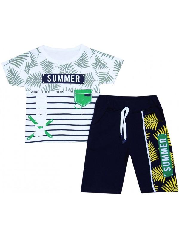 Летняя коллекция 2-3-4-5 лет детская одежда с принтом белый
