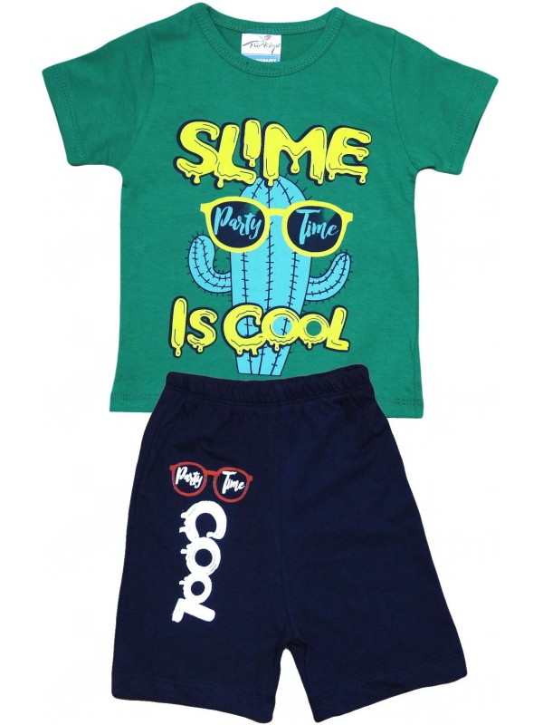 2-3-4-5 age cool printed summer children's clothing green