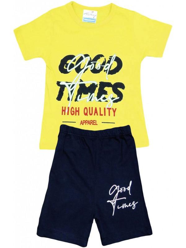 2-3-4-5 лет очень качественная летняя детская одежда с принтом желтого цвета