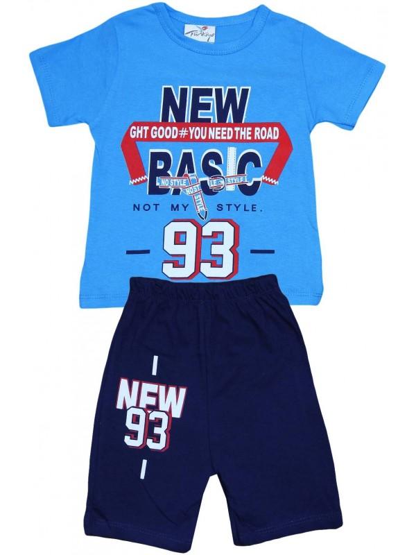 2-3-4-5 лет новинка 93 летняя детская одежда с принтом оптом темно-синяя