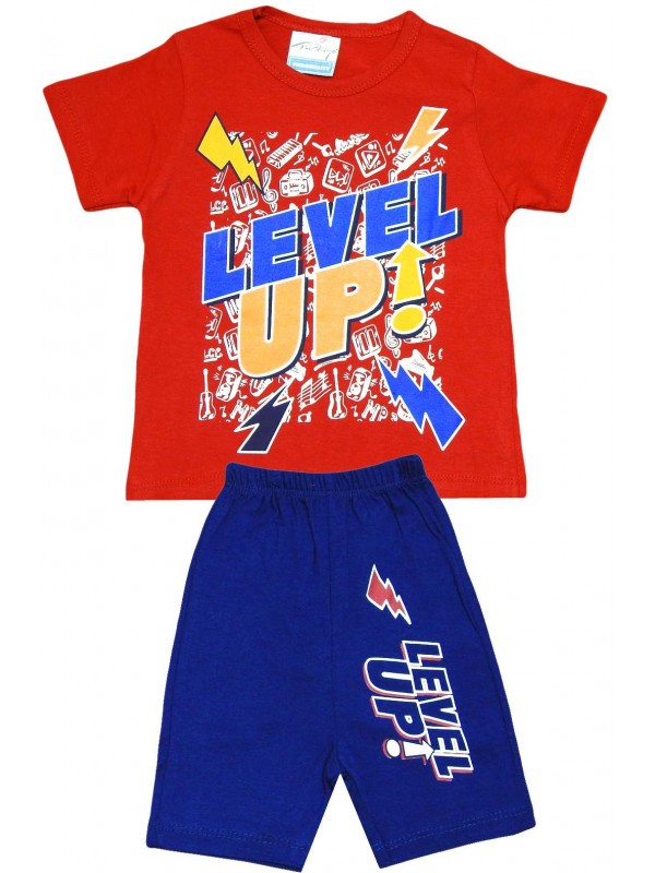 2-3-4-5 age level up printed summer wholesale kids red