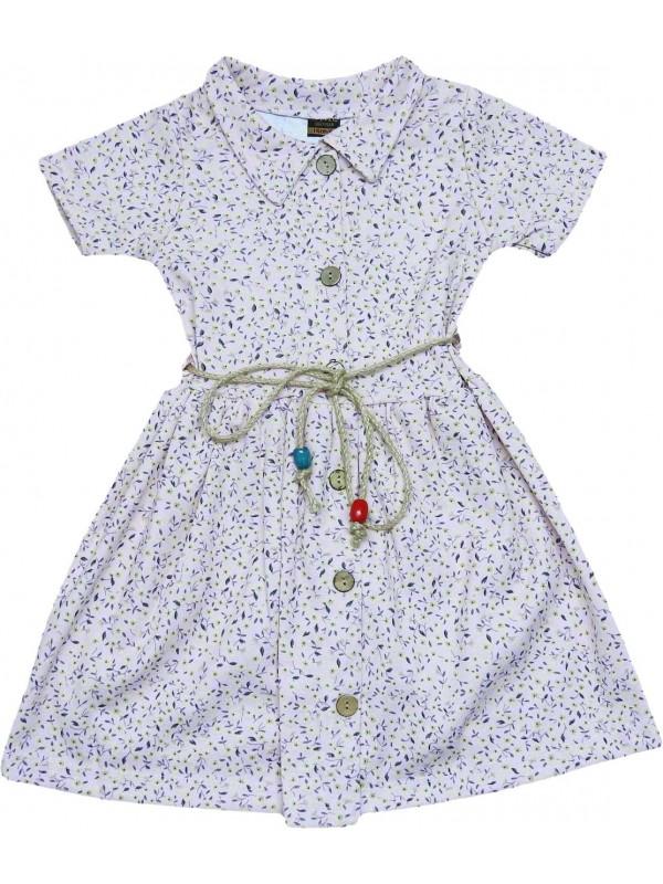 6-7-8-9 лет оптовые платья для девочек с цветочным принтом серого цвета