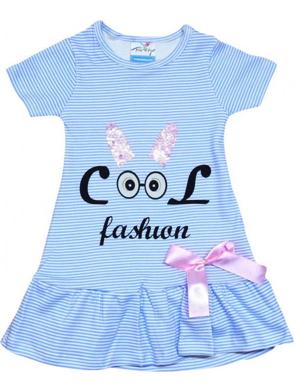 2-3-4-5 years old girls dress wholesale fashion printed blue