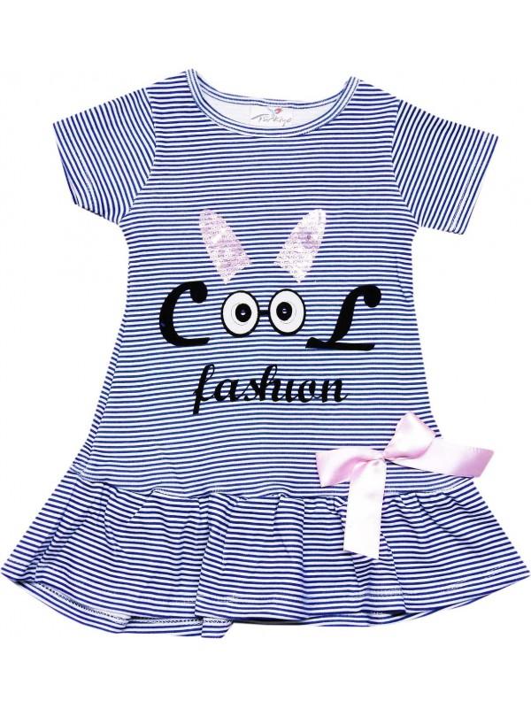 2-3-4-5 yaş kız çocuk elbise toptan fashion baskılı lacivert