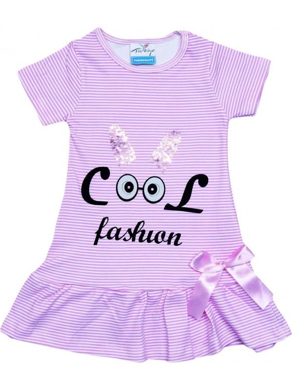 Платье для девочек 2-3-4-5 лет оптом модное розовое платье с принтом