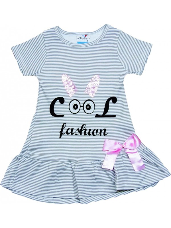 2-3-4-5 years old girls dress wholesale fashion printed gray