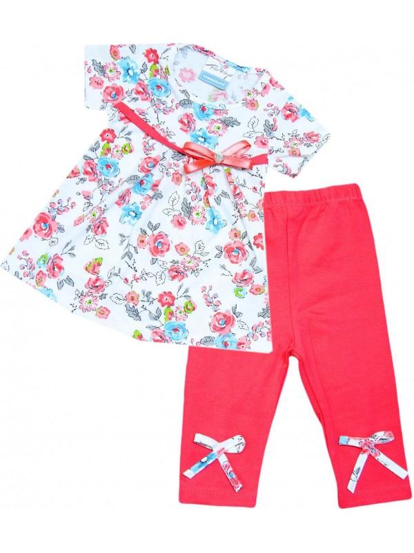2-3-4-5 yaş toptan yazlık kız elbise pantalon fuşya