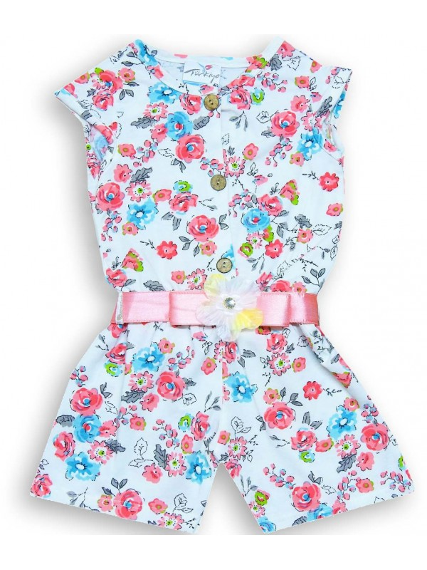 2-3-4-5 age wholesale summer girls dress with floral pattern