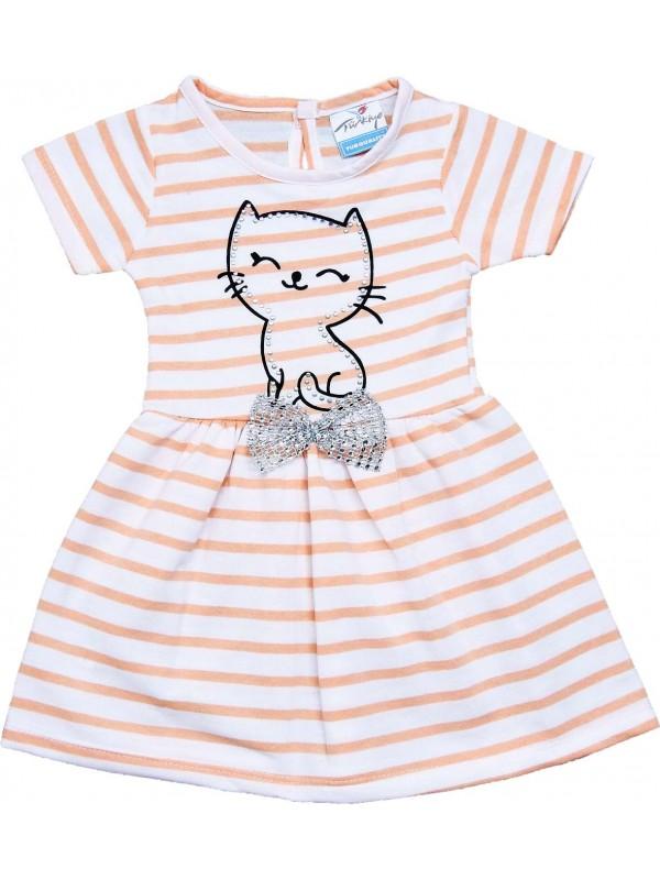 2-3-4-5 yaş yazlık kız çocuk elbise toptan pembe