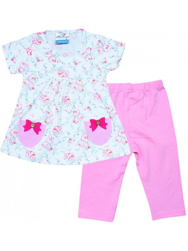 2-3-4-5 yaş toptan çok güzel yazlık kız elbise nar çiçeği