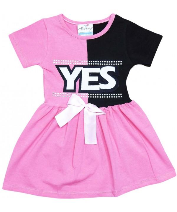 2-3-4-5 age yes printed summer girl dress fuchsia